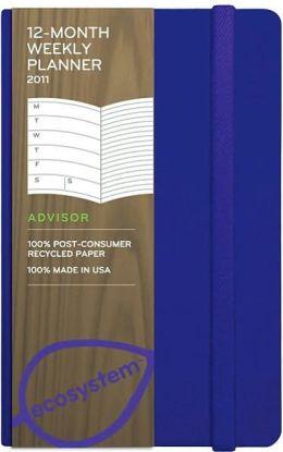 2011 12 month Weekly Pocket Flexi Grape Planner Calendar