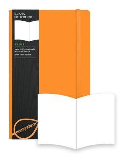 Ecosystem 100% Recycled Flexi Blank Clementine Journal (5.25''x8.25'')