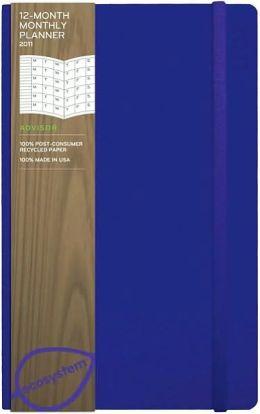 2011 12 Month Monthly Desk Flexi Grape Planner Calendar
