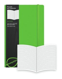 Ecosystem 100% Recycled Flexi Ruled Kiwi Journal (5.25''x8.25'')