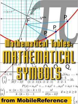 Mathematical Tables: Mathematical Symbols