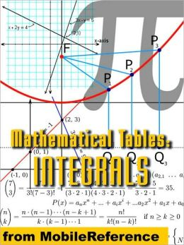 Mathematical Tables: Table of integrals : (antiderivative functions)