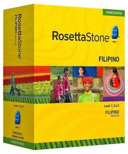 Rosetta Stone Homeschool Version 3 Filipino (Tagalog) Level 1, 2 & 3 Set: with Audio Companion, Parent Administrative Tools & Headset with Microphone