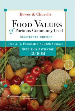 Bowes and Church's Food Values of Portions Commonly Used CD-ROM