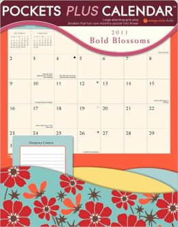 2011 Bold Blossoms Pocketsplus Wall Calendar