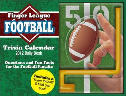 2012 Football Finger Sports Daily Desk Calendar