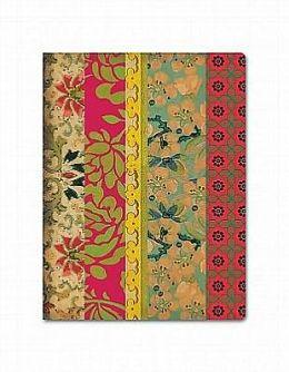 Deconstructed Vintage Floral Bound Journal (6.5''X 8.5'')