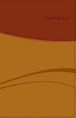 Common English Bible Thinline Tan/Brick Red DecoTone