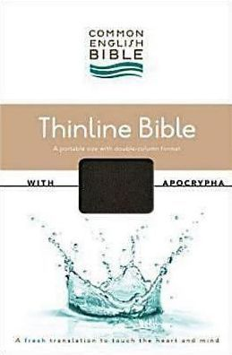 Common English Bible Thinline Black DecoTone with Apocrypha