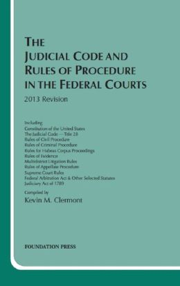 The\Judicial Code and Rules of Procedure in the Federal Courts 2013