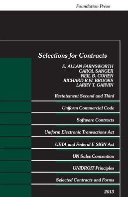 Farnsworth, Sanger, Cohen, Brooks and Garvin Selections for Contracts 2013