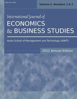 International Journal of Economics and Business Studies (2012 Annual Edition): Vol.2, Nos.1 & 2