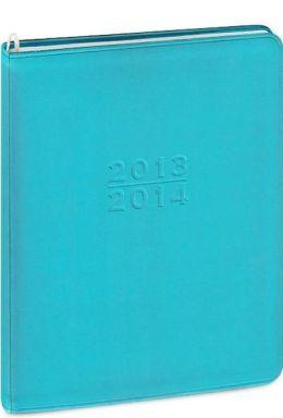 2014 18-Month Monthly Desk Blue Metal Kid Large Planner Calendar