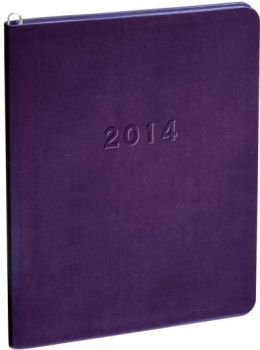 2014 Monthly Large Purple Metal Kid Planner