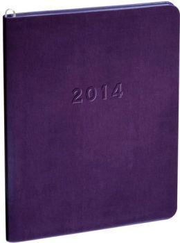 2014 Monthly Large Purple Metal Kid Planner