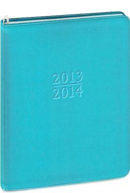2014 18-Month Weekly Desk Blue Metal Kid Planner Calendar