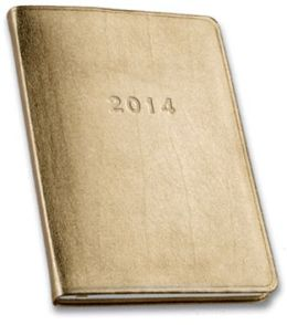 2014 Weekly Desk Gold Planner
