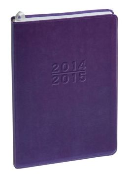 2015 18-Month Weekly Desk Purple Metal Kid Planner Calendar