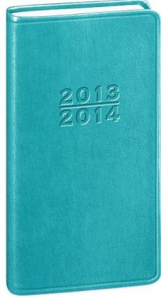 2014 18-Month Weekly Pocket Blue Metal Kid Planner Calendar