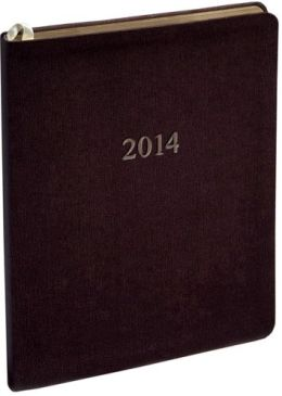 2014 Weekly Large Professional Burgundy Twill Planner