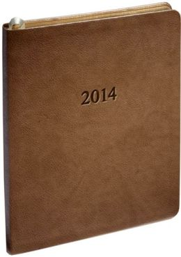 2014 Weekly Large Professional Pearl Taupe Planner