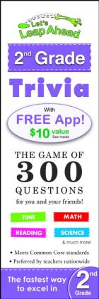 Let's Leap Ahead 2nd Grade Trivia Notepad: The Game of 300 Questions for you and your friends!