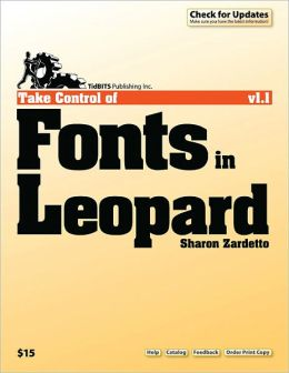 Take Control of Fonts in Leopard