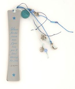 Enchanted Celestial Quote Metal Bookmark