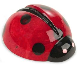 Red Ladybug Alabaster Small Paperweight 2.5