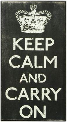 Keep Calm Black Wood Box Sign/Plaque (13x7)