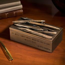 Hemingway Writer's Quotation Resin Pen Box