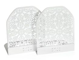 White Decorative Metal Bookends Set of 2 ( 4.3/4