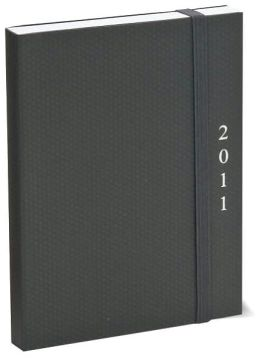 2011 Weekly Planner 4x6 Flexi Black Engagement Calendar
