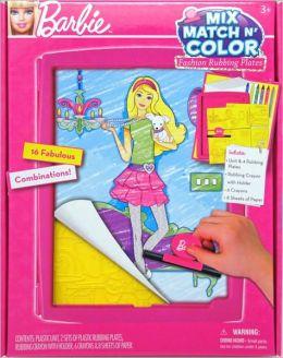 Barbie Mix, Match n' Color Fashion Rubbing Plates