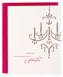 Chandelier Fabulous Letterpress Note Card Set of 8