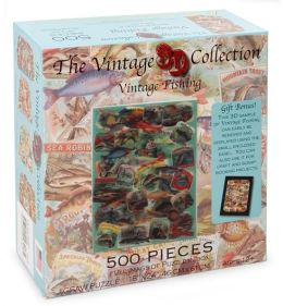 Vintage Fishing 500 Piece Lenticular Jigsaw Puzzle:B&N Exclusive