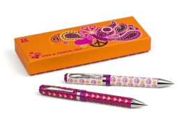 Jonathan Adler Love Dove Peace & Hearts Pen & Pencil Set-2 Piece