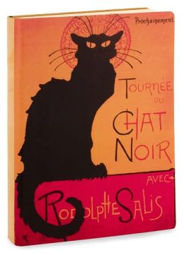 Tournee Du Chat Noir Printed Italian Leather Lined Journal 6 X 8