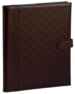 Jonathan Adler Bespoke Brown Bonded Leather Writing Folio (8.5