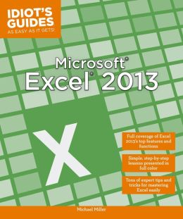 Idiot's Guides: Microsoft Excel 2013 (PagePerfect NOOK Book)
