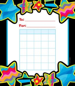 Poppin' Patterns Stars Student Incentive Chart