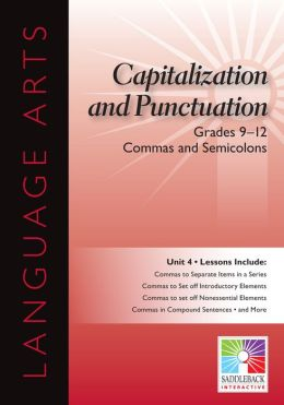 Commas and Semicolons Interactive Whiteboard Resource