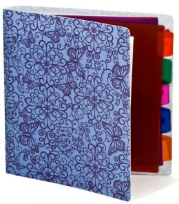 Purple Butterflies 3-Ring Binder with dividers