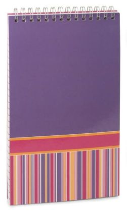 Purple Stripe Lined Steno Pad (5