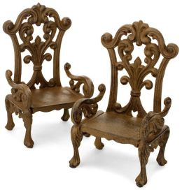 Cast Iron Chair Bookends - Set of 2