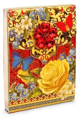 Rose & Butterfly Brooch Magnetic Note Pad with Foil