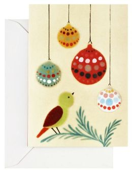 Xenia Taler Bird and Ornament Christmas Card Set of 10