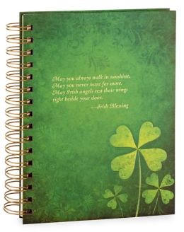 Green Shamrock Irish Quote Lined Journal 6x8