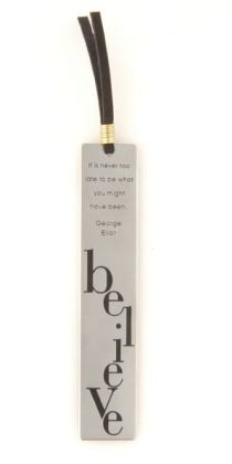 Virtue Believe Metal Bookmark