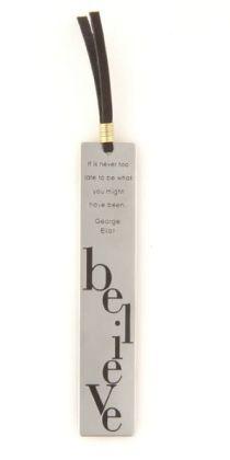 Virtue Believe Metal Bookmark